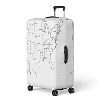 Amazon.com Pinbeam Luggage Cover State Blank Outline Map of