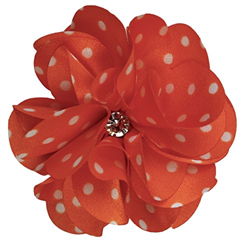 Ruby Satin Flower Hair Clip By Funny Girl Designs (Orange (Dad Satin)