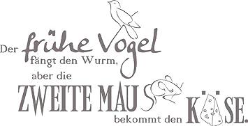 Grazdesign 670148 50 090 Wandtattoo Frühe Vogel Dekorations Tattoo