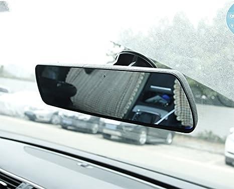 Queta Rückspiegel Auto Innenspiegel An Der Windschutzscheibe Anti Blend Universal Zusatzspiegel Abblendbar Winkeleinstellung Mit Saug Auto