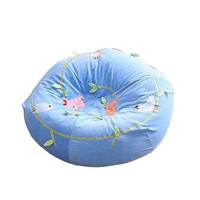 Belingeya Sillón Puf con Tatami Sofa Creative Lazy - Deshuesado, extraíble, Frijol extraíble, sofá de Dormitorio Colores (Color : Blue Bird, tamaño : 95cm): Hogar