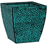 Robert Allen MPT01418 St James Steel Planter, 6-Inch, Blue Moon Review