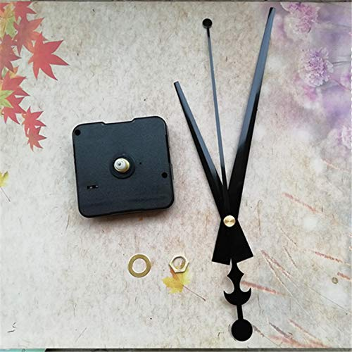 Maslin 500PCS DIY Battery Clock Mechanism Silent for Quartz Clockwork Repair with Black Metal Long Clock Hands