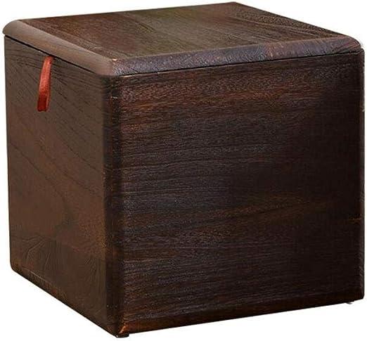 ECSD Taburete De Almacenamiento De Cubo De Madera Maciza con Ruedas, Asiento De Casa para Adultos, Caja De Almacenamiento De Juguetes Misceláneos (Color : 02, Tamaño : 28cm): Amazon.es: Hogar