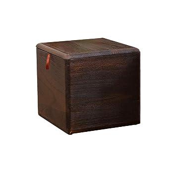 YCSD Taburete De Almacenamiento De Cubo De Madera Maciza con Ruedas, Asiento De Casa para