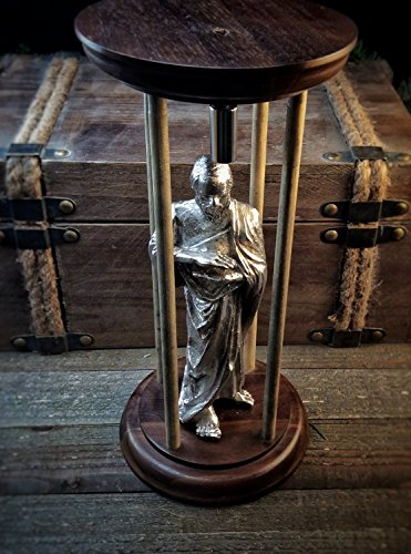 """Magnetic Levitation Sculpture """"The Alchemist"""" – The wise man floats a magnet between his hand using the diamagnetism of Bismuth, the 83rd element on the periodic table. Maglev Science Experiment"""