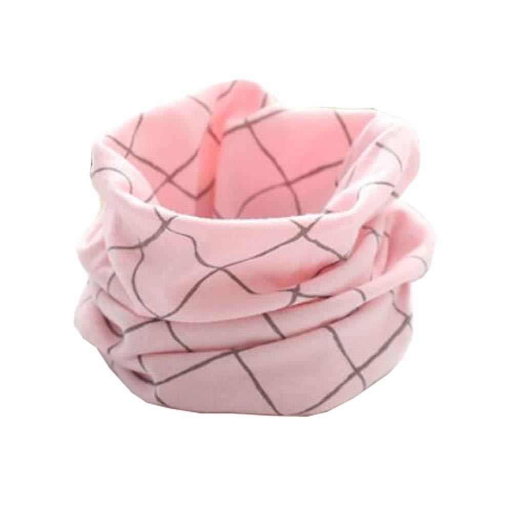 Chinashow - Sciarpa a Cerchio, Unisex, per Bambini, con Diamanti Rosa