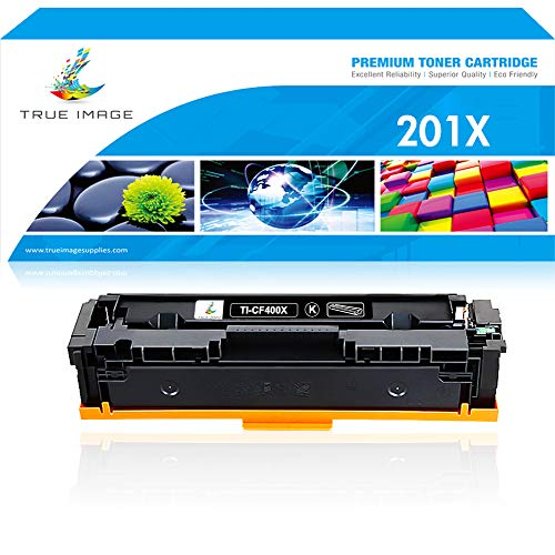 True Image Compatible Toner Cartridge Replacement for HP 201A 201X CF400X CF400A HP MFP M277dw M252dw Toner HP Color Laserjet Pro MFP M277dw M277n M277C6 M277 M252dw M252n M252 Printer Ink Black -1PK