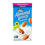 Almond Breeze Dairy Free Almondmilk, Unsweetened Vanilla Milk, 64 Ounce (Pack of 8)