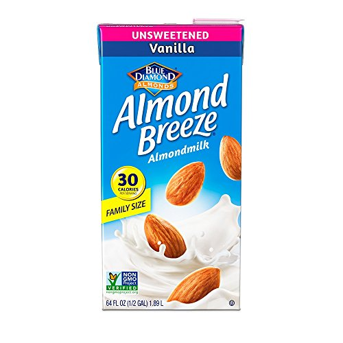 Almond Breeze Almond Milk, Unsweetened Vanilla, 64 Ounce