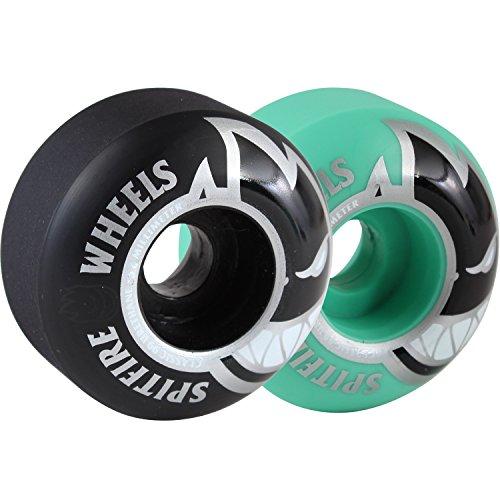 書き込み王朝不安定なSpitfire Wheels Bigheadクラシックブラックマッシュアップ/Tealスケートボードホイール – 52 mm 99 a (Set of 4 )