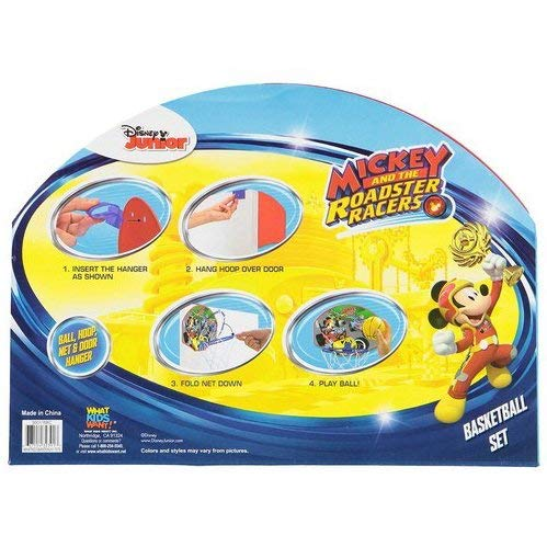 KidPlay Products Mickey and The Roadsters Kids Basketball Hoop