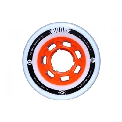 Atom Boom Orange Hub X Firm Roller Skate Wheels 59mm X 38mm 8 Pack : Sports & Outdoors