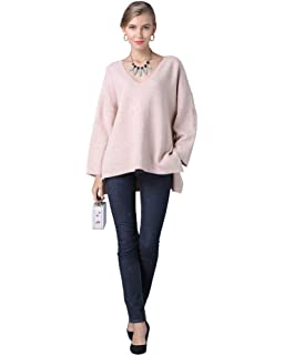 OFEFAN Womens Waffle Knit Off The Shoulder Tops Knot Batwing Shirt Tunic Blouse