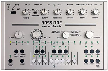Acidlab アナログベースラインマシン Bassline-3 Silver シルバー