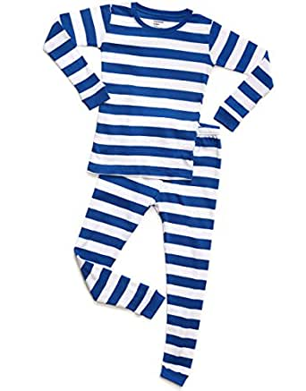 0470733b5 Amazon.com  Leveret Striped Kids   Toddler Boys Pajamas 2 Piece Pjs ...