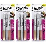 Bulk Buy: Sanford Sharpie Metallic Permanent Markers 3/Pkg Gold; Silver; Bronze (3-Pack)