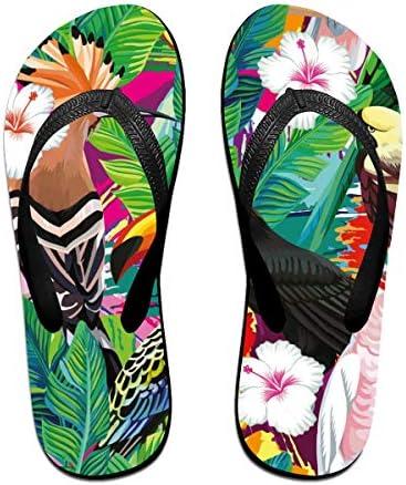 ビーチシューズ 熱帯雨林の鳥 ビーチサンダル 島ぞうり 夏 サンダル ベランダ 痛くない 滑り止め カジュアル シンプル おしゃれ 柔らかい 軽量 人気 室内履き アウトドア 海 プール リゾート ユニセックス