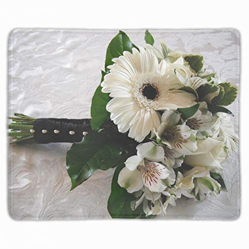 (Mouse Mat,Personalized Non-Slip Mousepad for Office Work Travel Home Gerbera Roses Alstroemeria)
