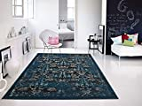 Premium Soft Vintage Black Contemporary Rugs For Living Room, 5×8 Kitchen & Bedroom Size Rug Review