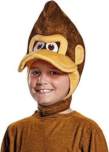 [Child's Nintendo Donkey Kong Gorilla Monkey Headpiece Costume Accessory] (Donkey Kong Costume For Women)