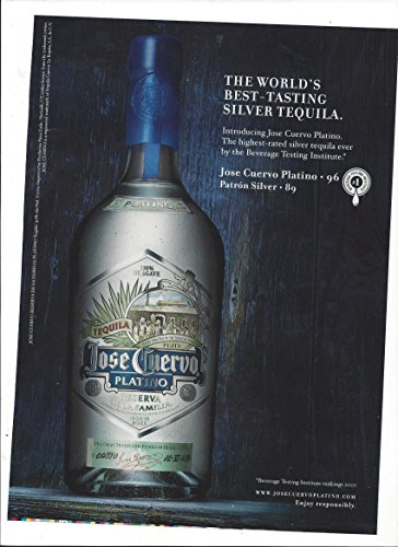 PRINT AD For 2007 Jose Cuervo Platino Silver Tequila