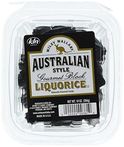 Kenny's Wiley Wallaby Australian Style Liquorice, Black, 10 (Style Black Licorice)