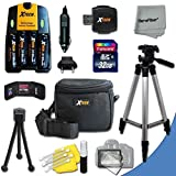 Ultimate Accessory Kit for Canon Powershot SX160 IS, SX150 IS, SX130 IS, SX120 IS, SX110 IS, SX100 IS, SX20 IS, SX10 IS, SX5 IS, SX3 IS, SX2 IS, SX1 IS, A2100 IS, A2000 IS, A1400 Digital Cameras Includes 4 AA High Capacity 3100mAh Rechargeable Batteries with Quick AC/DC Charger + 32GB High Speed Memory Card + Universal Card Reader + Water Resistant Padded Case + Full Size Pro 50 Inch Tripod + Mini Table Tripod + Memory Case Holder + Screen Protectors + Deluxe Cleaning Kit + Ultra Fine HeroFiber Cleaning Cloth