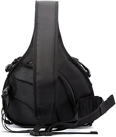 Black Color : Black Size: 332417cm HUANGMENG Bag Triangle Shape Tscope Sling Shoulder Cross Digital Camera Bags Case Soft Bag with Rain Cover for Canon Nikon for Sony HUANGMENG