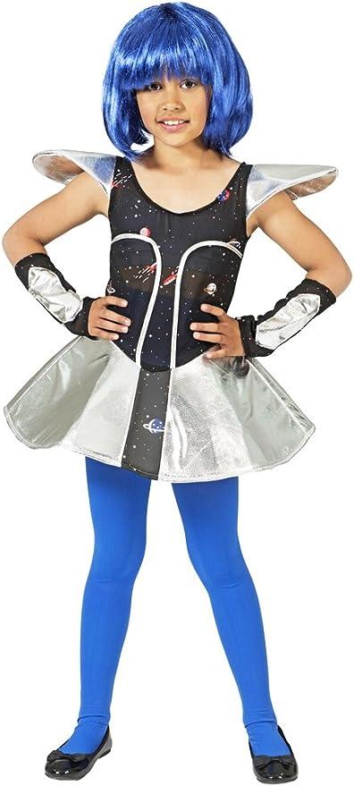 Das Kostümland Disfraz de niña Espacial Leia para niña - Vestido ...