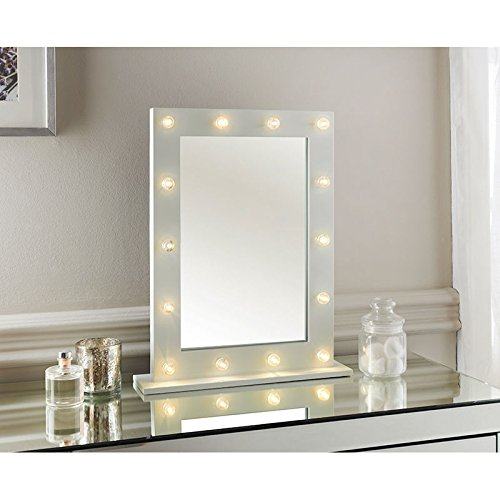 New Hollywood LED light detailed Dressing Table Mirror -40 X 50 x 10cm (Approx.) Scotrade