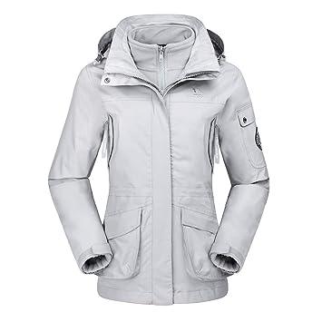 934834410af8 CAMEL CROWN Women s 3 in 1 Ski Jacket Waterproof Winter Snow Hooded ...