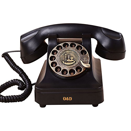 SAN_X Retro Phone Retro Old Style Telephone Rotate Dial Button Office Landline European Style Personality from SAN_X