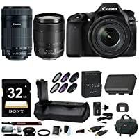 Canon EOS 80D DSLR Camera with EF-S 18-135mm & EF-S 55-250mm Lens Bundle Basic Facts Review Image