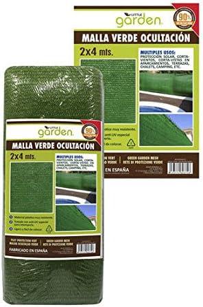 MALLA VERDE OCULTACIÓN 2X4 M: Amazon.es: Hogar