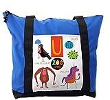 Lunarable ABC Kids Shoulder Bag, Umbrellabird Urchin Uakari, Durable with Zipper