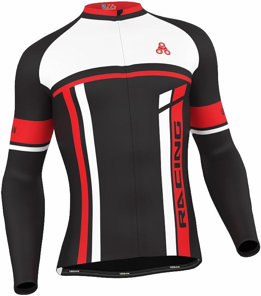 Long Sleeve /& Tights Men/'s Urban Cycling Team Red Thermal Winter Cycling Set Bundle