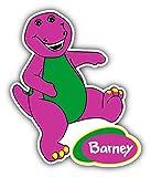 cartoon Barney Car Bumper Sticker Decal - Longer Side 14