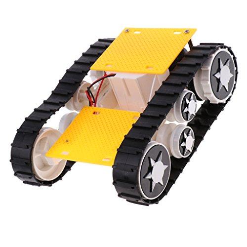 B Blesiya 手動DIYおもちゃ タンクカーシャーシ 3-9V Arduino SN1900のため ライトショック 変換ロボット タンクパーツ