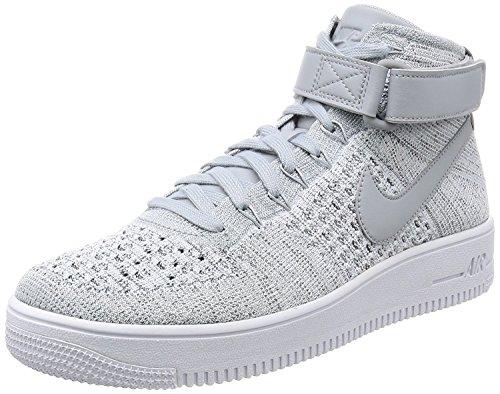 Zapatillas De Baloncesto Nike Mens Af1 Ultra Flyknit Mid, Grigio, 41 D (m) Eu / 7 D (m) Uk