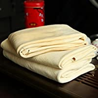 Trainshow Car Drying Natural Chamois Cleaning Cloth Premium Genuine Deerskin Leather Towel for Auto Car Washing and for Precision Instrument