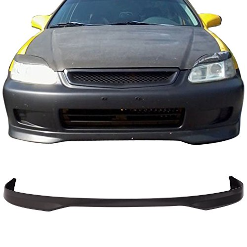 Style Lip Front Bumper - Front Bumper Lip Fits 1996-1998 Honda Civic | T-R Style Black PP by IKON MOTORSPORTS
