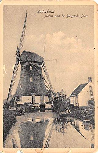 (Molen aan de Bersche Plas Rotterdam Holland Postcard)
