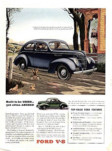 - Built to be used, yet often abused Ford V-8 Tudor & Coupe ad 1939 BHG