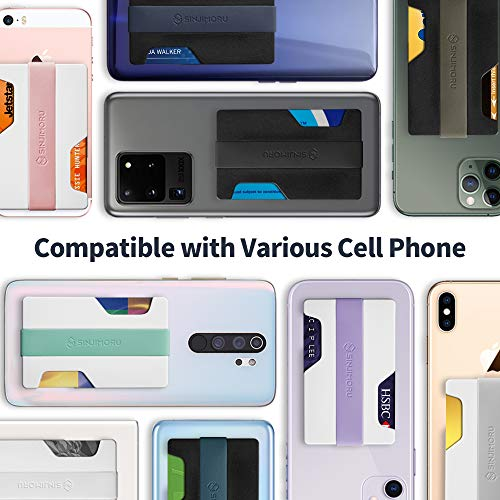 Sinji Mount Z-Slot. Detachable Cell Phone Wallet as Credit Card Holder /& Front Pocket Wallet White Plate, Grey Sinjimoru Hybrid Minimalist Card Wallets for Men /& Women