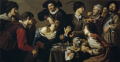 [Oil Painting 'Rombouts Theodoor El Charlatan Sacamuelas 1620 25 ' Printing On Polyster Canvas , 8 X 15 Inch / 20 X 39 Cm ,the Best Living Room Artwork And Home Gallery Art And Gifts Is This Cheap But High Quality Art Decorative Art Decorative Prints On] (Buffalo Bob Costume)