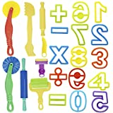 Kare & Kind Set of 24pcs Smart Dough Tools Kit with Models and Molds (Numbers, Symbols)