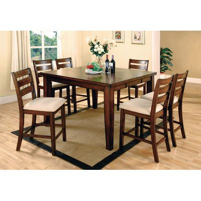 Venetian Worldwide Priscilla I 7-Piece Counter Height Dining Table and Chairs Set