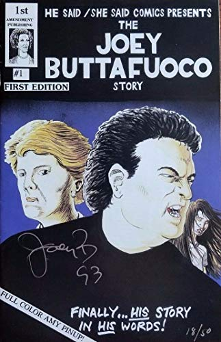 """Long Island Lolita Case"" Joey Buttafuoco Signed Comic Book Authenticated from Unknown"