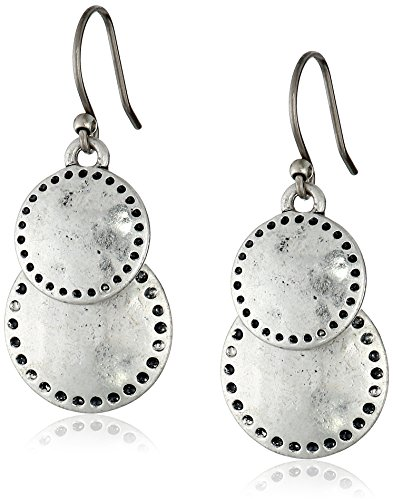 Discount Lucky Brand Womens Double Drop Earring, Silver, One Size